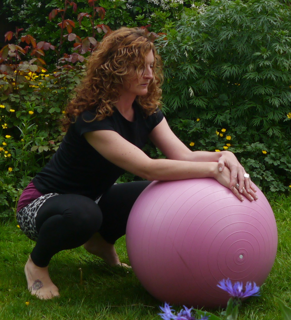 Try squatting over the ball for a few of your contractions, open the pelvis, use supports under your feet if necessary